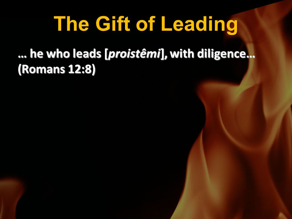 The Gift of Leading … he who leads [proistêmi], with diligence… (Romans 12:8)